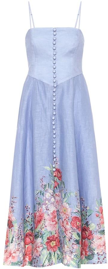 Zimmermann Bellitude floral linen midi dress