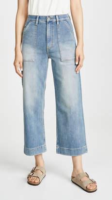Wrangler Wide Leg Utility Crop Jeans