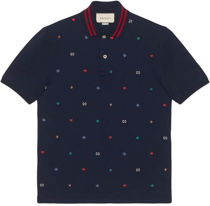 273bd00e Gucci Blue Men's Polos - ShopStyle