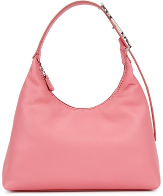STAUD Scotty Pink Leather Shoulder Bag