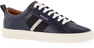 Bally Men's Helvio Calf Leather Low-Top Sneakers