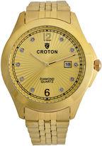 Croton Mens Gold Tone Bracelet Watch-Cn307562ylcd