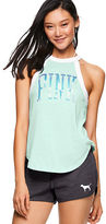 PINK Ringer High-Neck Tank