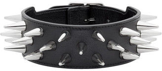 Gucci Black Leather Studded Choker