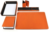 Giorgio Fedon Metal and Leather Desk Set