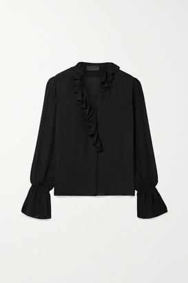 Nili Lotan Cecily Ruffled Silk-chiffon Shirt - Black