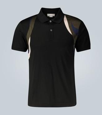 Alexander McQueen Contrast Harness polo shirt