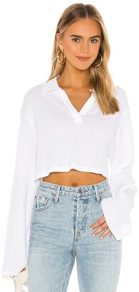 The Range Stark Waffle Knit Cropped Polo