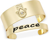 "Macy's Inspired Life 2-Pc. Set Hamsa Hand and ""Peace"" Cuff Bracelets"