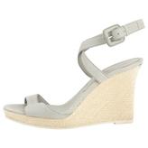 Burberry Grey Leather Heels