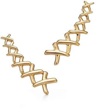 Tiffany & Co. Paloma's Graffiti X climber earrings in 18k gold