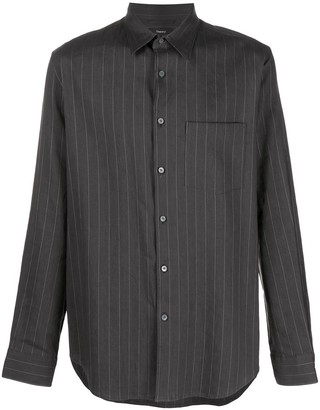 Theory Striped-Print Long-Sleeved Shirt