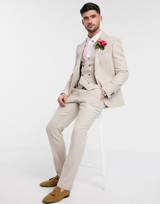 Harry Brown slim fit wedding summer tweed suit trouser