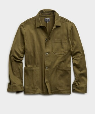 Todd Snyder Japanese Knit Chore Coat in Olive