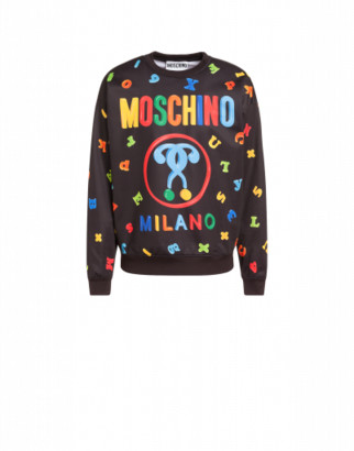 Moschino Magnets Technical Sweatshirt Man Black Size 44 It - (34 Us)