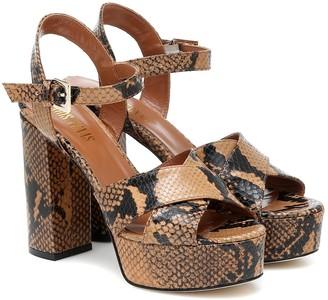 Paris Texas Leather platform sandals