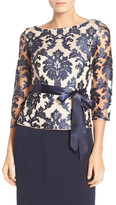 Adrianna Papell Embroidered Lace Top