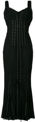 Dolce & Gabbana Lace-Up Long Corset Dress