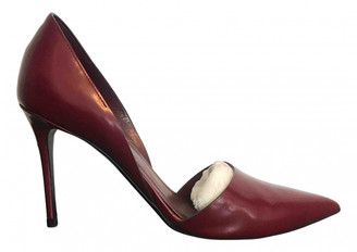 Celine Sharp Burgundy Leather Heels