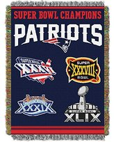 "Northwest New England Patriots 48"" x 60"" Commemorative Tapestry Throw"