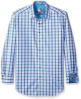 Robert Graham Men's Tall Size Hollister L/s Classic Fit Woven Shirt