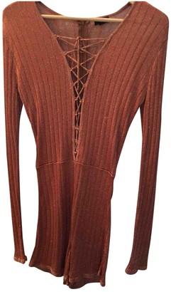NBD Orange Wool Jumpsuit for Women
