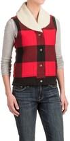 Woolrich Giant Buffalo Wool Vest - Insulated, Sherpa Collar (For Women)