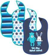 Care Baby Boys Babi1 Bib(pack of 3), Blue (Dark Navy)