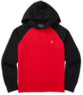 Ralph Lauren Boys 8-20 Waffle-Knit Hooded Pullover