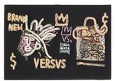 Olympia Le-Tan Olympia Le Tan Basquiat 'versvs'-embroidered Book Clutch - Womens - Black Multi