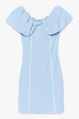 Nasty Gal Womens Here Comes the Sun Textured Mini Dress - Blue - 6, Blue