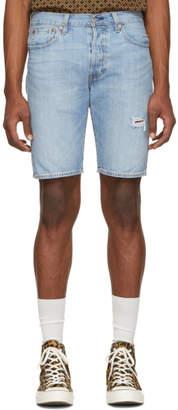 Levi's Levis Blue Denim Original 501 Shorts