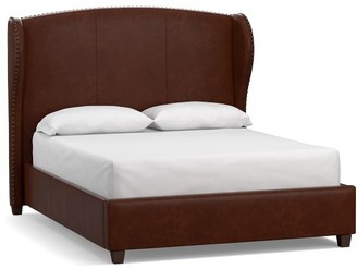 Pottery Barn Raleigh Wingback Leather Bed