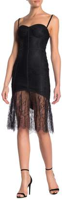 Ontwelfth Sheer Lace Bustier Bodycon Dress