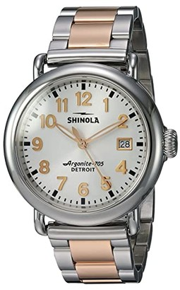 Shinola Detroit The Runwell 36mm - 20089898 (Polished Stainless Steel/PVD Rose Gold Bracelet/White Dial) Watches