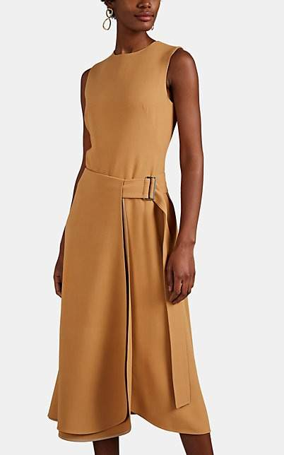 Victoria Beckham Women's Flared Midi-Dress - Tan