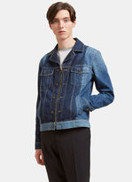 Lanvin Men's Two-tone Zip-up Denim Jacket In Blue