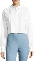 Rag & Bone Calder Reversible Long-Sleeve Button-Front Shirt, White