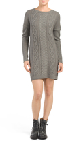 Juniors Scout Cable Knit Sweater Dress