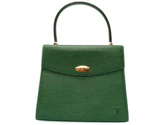 Louis Vuitton Malesherbes Green Leather Handbags