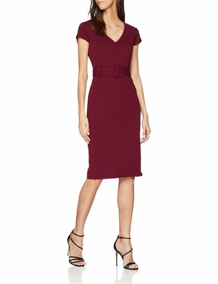 New Look Women's Scuba Belted 6061870 Dress