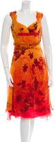 Celine Printed Silk Dress