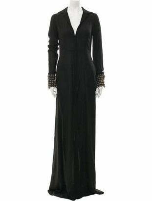 By. Bonnie Young Silk Long Dress w/ Tags Black