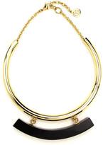 Ben-Amun Gold Collar Necklace with Black Resin Bar