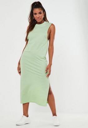 Missguided Mint Basic Tank Midi Dress
