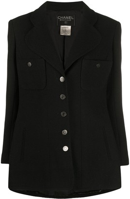 Chanel Pre Owned 1997 Notched Collar Jacket