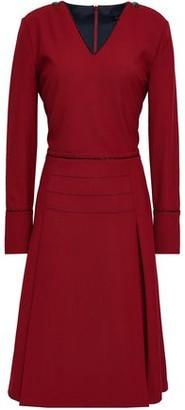 Piazza Sempione Pleated Twill Dress