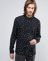 AllSaints Shirt with All Over Print in Slim Fit