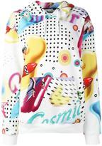 Jeremy Scott pin-up print hoodie
