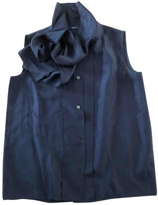 Sofie D'hoore Blue Silk Top for Women